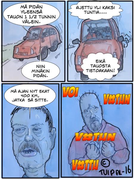 Autolla saimaalle